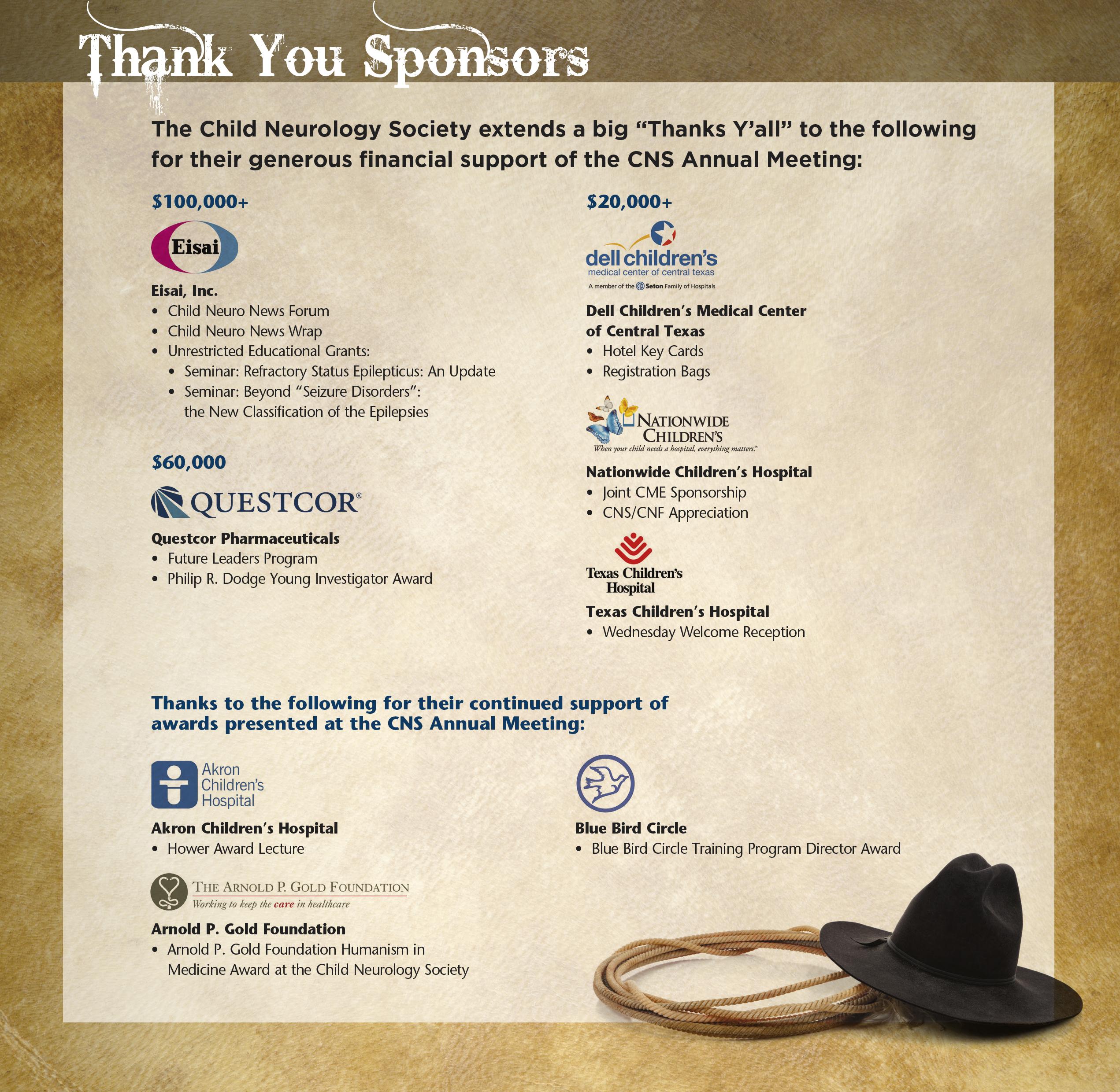 42th CNS Annual Meeting Sponsors
