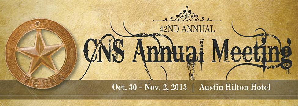 42th CNS Annual Meeting
