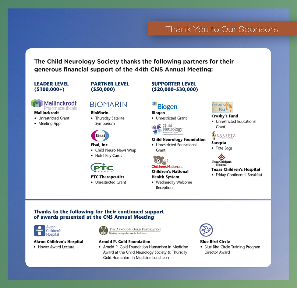 44th CNS Annual Meeting Sponsors
