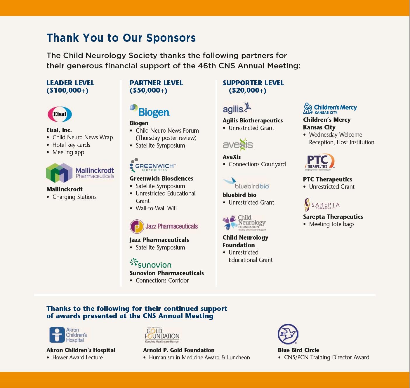 46th Annual Meeting Sponosors