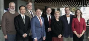 Current CNS Board (L-R): Jonathan Mink, Peter Kang, Kenneth Mack, Gary Clark, Phillip Pearl, Mary Zupanc, Bruce Cohen, Renée Shellhaas