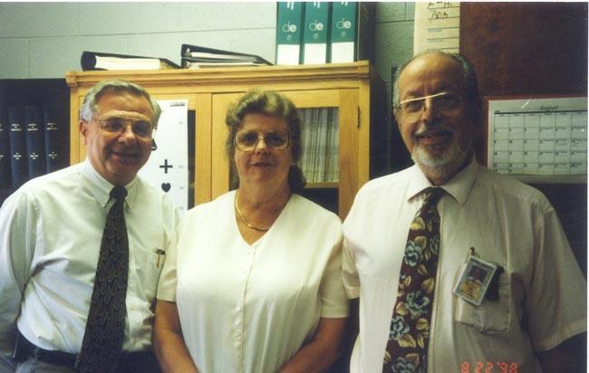 L-R: Jack Pellock, Marilyn Myer (VCU section administrator), Ed Myer